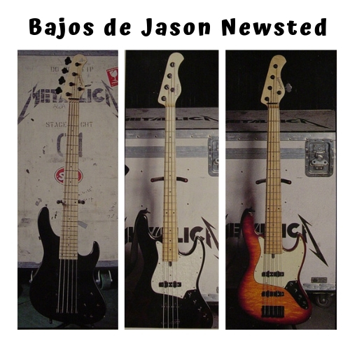 diferentes bajos de jason newsted