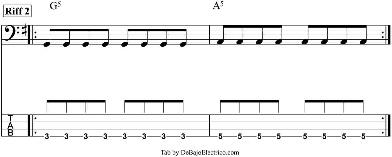 seven nation army bass tab part 2