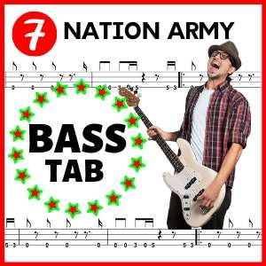 tablatura de bajo seven nation army