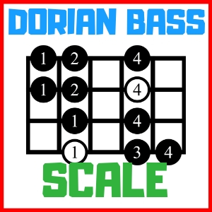 dorian scale for bass
