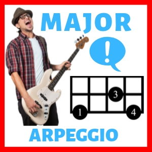 bass patterns for major arpeggio