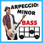 bass fingerings for minor arpeggio