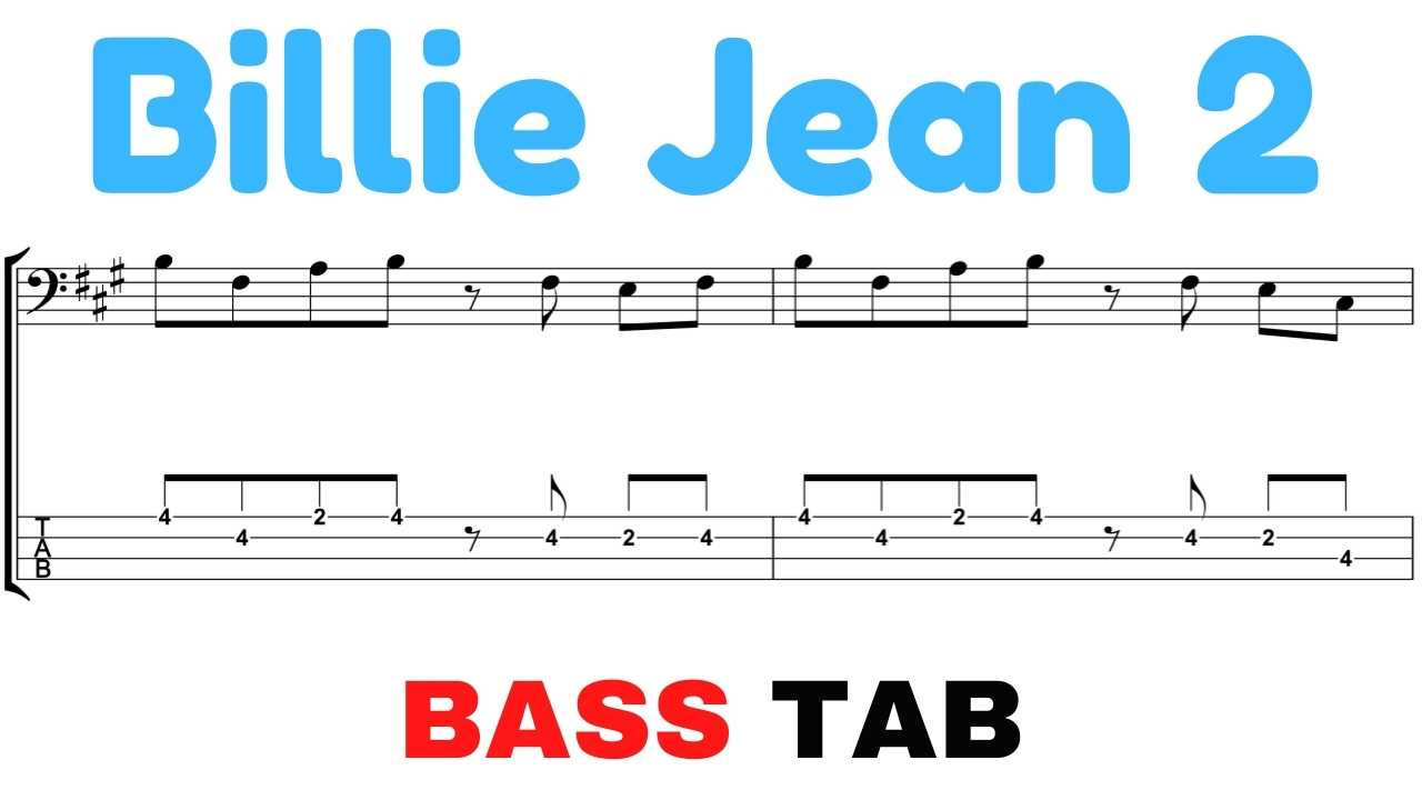 michael jackson billie jean bass tab