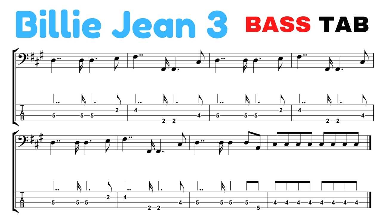 billie jean tab bass