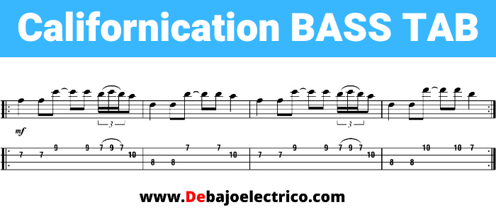 californication bass tab