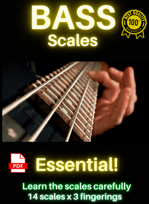 bass guitar scales pdf
